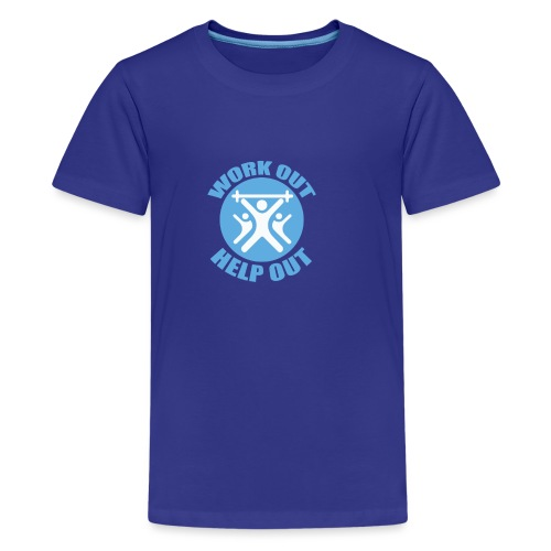 Work Out Help Out- Strength through Service - Kids' Premium T-Shirt