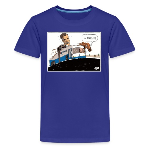 romney rides on the roof - Kids' Premium T-Shirt