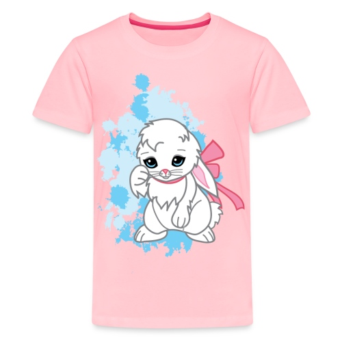 Adorable Kawaii Snowball the Bunny Women's Tee - Kids' Premium T-Shirt