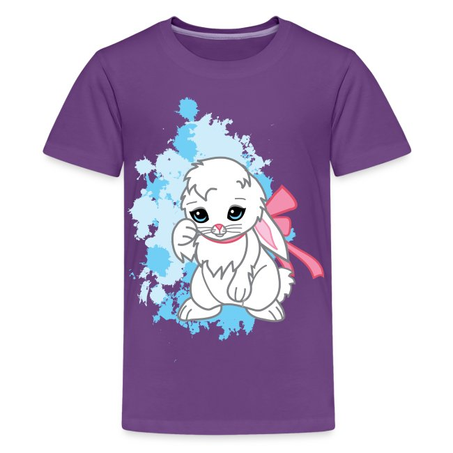 Adorable Kawaii Snowball the Bunny Women's Tee