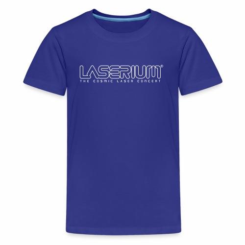 Laserium Logo OL White Tag - Kids' Premium T-Shirt
