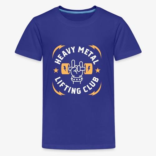 Heavy Metal Lifting Club (Yellow) - Kids' Premium T-Shirt
