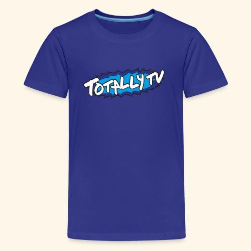 Totally TV Burst Logo Blue on Blue - Kids' Premium T-Shirt