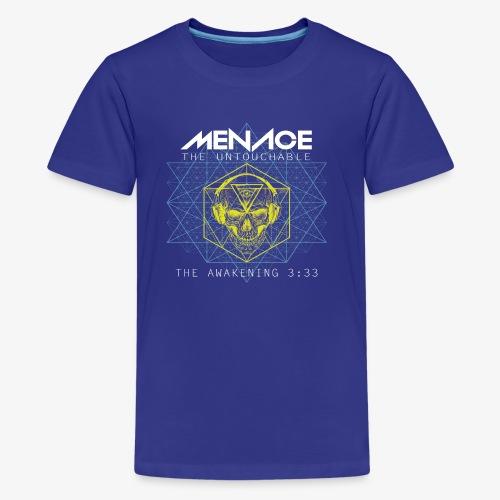 Menace white letters - Kids' Premium T-Shirt