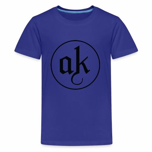 AK LOGO Black - Kids' Premium T-Shirt