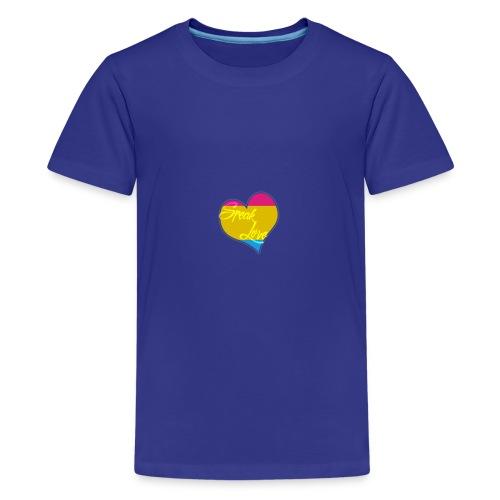 Speak Love Pan - Kids' Premium T-Shirt