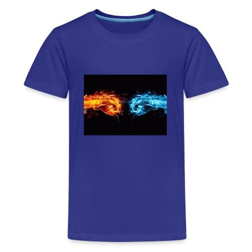 fire fist vs water fist DPOY Logo - Kids' Premium T-Shirt
