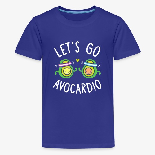Let's Go Avocardio | Cute Avocado Pun - Kids' Premium T-Shirt