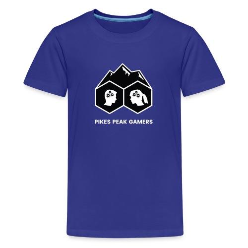 Pikes Peak Gamers Logo (Solid Black) - Kids' Premium T-Shirt