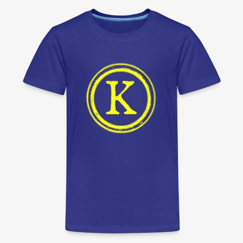 1000x1000 yellow logo - Kids' Premium T-Shirt