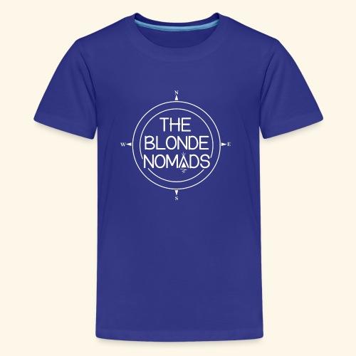 The Blonde Nomads logo WHITE - Kids' Premium T-Shirt