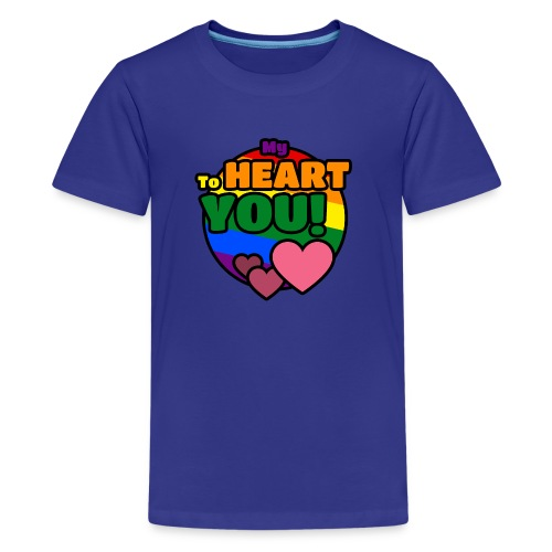 My Heart To You! I love you - printed clothes - Kids' Premium T-Shirt