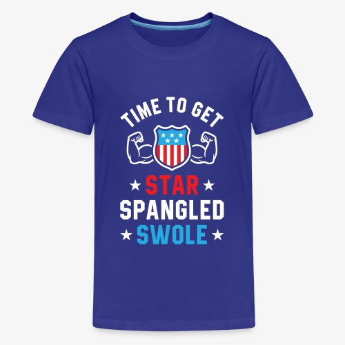 Time To Get Star Spangled Swole - Kids' Premium T-Shirt