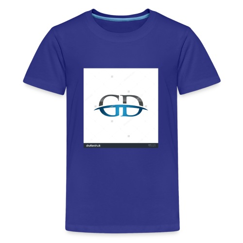 stock vector gd initial company blue swoosh logo 3 - Kids' Premium T-Shirt