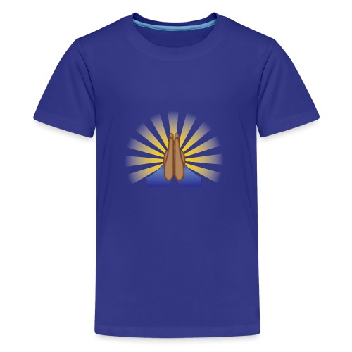 Prayer Hands (Brown) - Kids' Premium T-Shirt