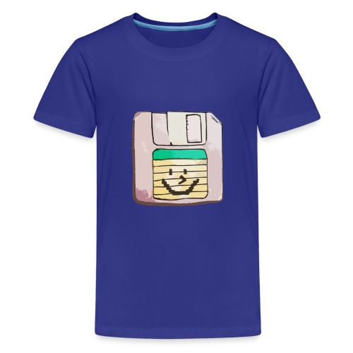 smiley floppy disk - Kids' Premium T-Shirt