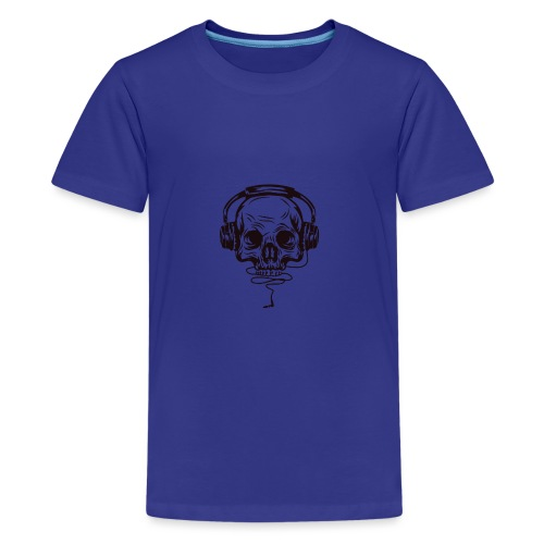 music skull head - Kids' Premium T-Shirt