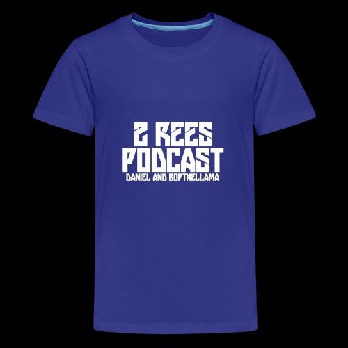 2 REES Podcast Logo (White) - Kids' Premium T-Shirt