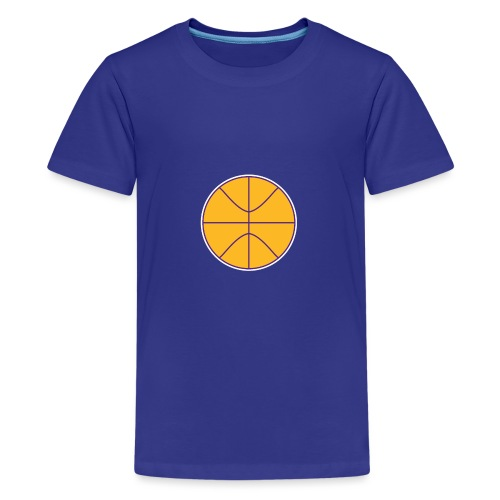 Basketball purple and gold - Kids' Premium T-Shirt