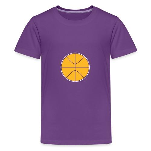 Basketball purple and gold - Kids' Premium T-Shirt