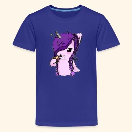 Unicorn Eating Pizza - Kids' Premium T-Shirt