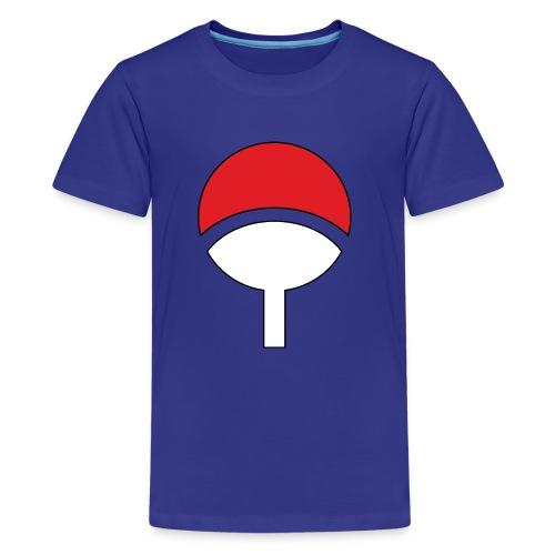 uchiha clan symbol by elsid37 d4t4t8l - Kids' Premium T-Shirt