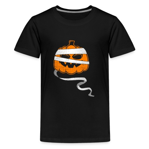 Halloween Bandaged Pumpkin - Kids' Premium T-Shirt