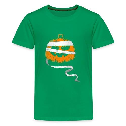 Halloween Bandaged Pumpkin - Kids' Premium T-Shirt