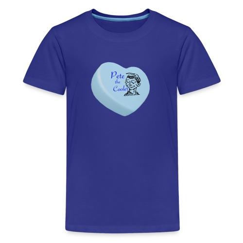Pete the Cooler Candy Heart - blue - Kids' Premium T-Shirt