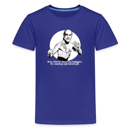 schneier11 martial white - Kids' Premium T-Shirt