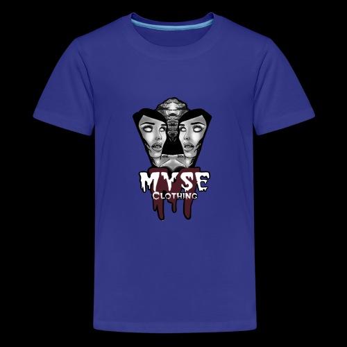 Myse clothing logo with vampire - Kids' Premium T-Shirt