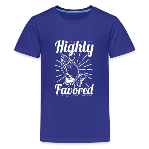 Highly Favored - Alt. Design (White Letters) - Kids' Premium T-Shirt
