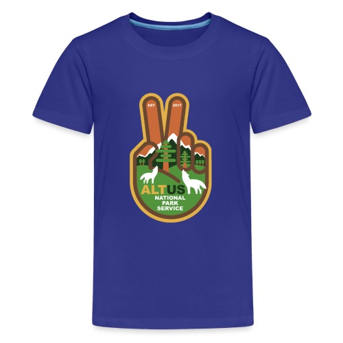 ALT US National Park Service - Peace - Kids' Premium T-Shirt