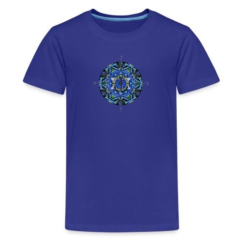 Sailing Freedom Wind Rose - Kids' Premium T-Shirt