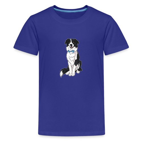 Border Collie Frankie - Transparent Background - Kids' Premium T-Shirt
