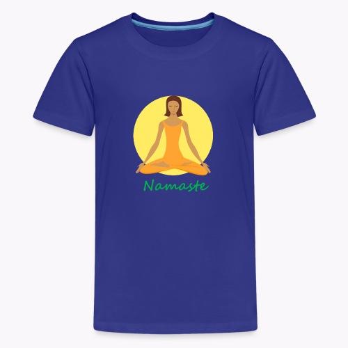yoga namaste chanting - Kids' Premium T-Shirt