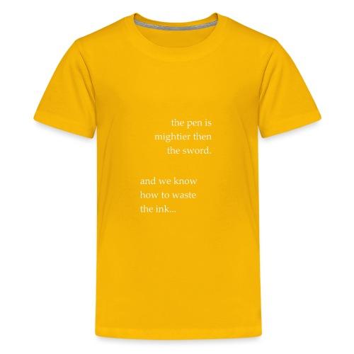 invert the pen is mightier(invert) - Kids' Premium T-Shirt