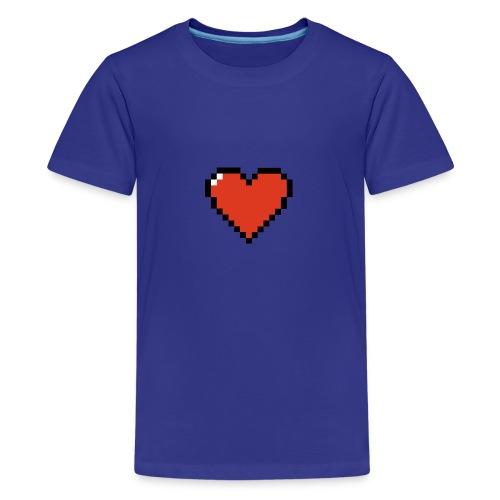 Pixel Wave Heart - Kids' Premium T-Shirt