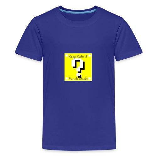 Keep Calm & Punch Blocks - Kids' Premium T-Shirt