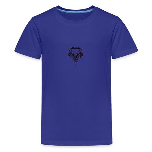 music skull head - Kids' Premium T-Shirt