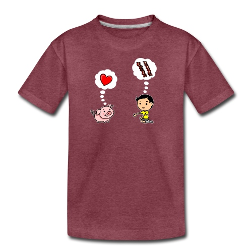 Boys Love Bacon Too - Kids' Premium T-Shirt