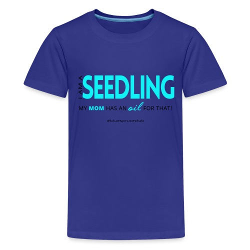 Seedling shirt black ang blue png - Kids' Premium T-Shirt