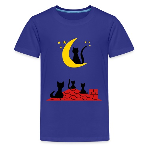 Cats on the roof - Kids' Premium T-Shirt