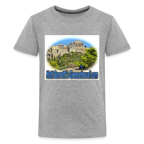 Greecetravel Acropolis Blue jpg - Kids' Premium T-Shirt
