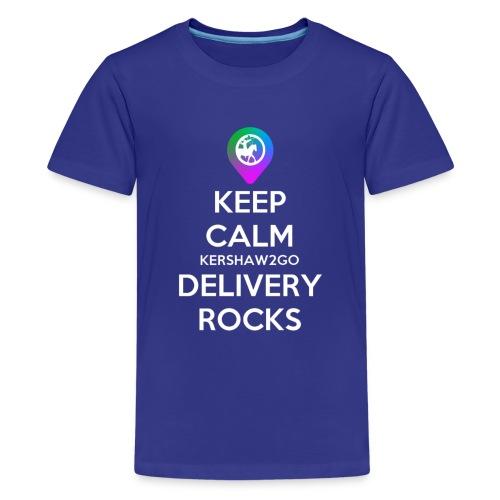 Keep Calm Kershaw2Go Delivery Rocks - Kids' Premium T-Shirt