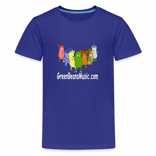 Green Bean's Music Apparel White Logo - Kids' Premium T-Shirt