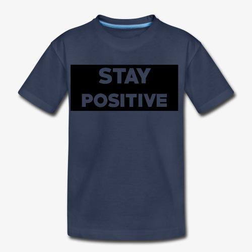 Stay Positive (Black Box) - Kids' Premium T-Shirt