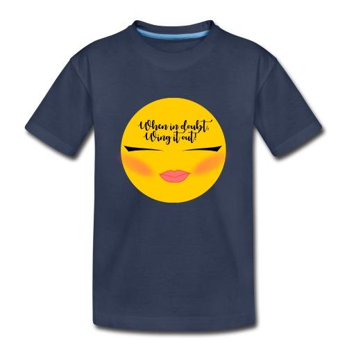 Winged Eyeliner emojii - Kids' Premium T-Shirt