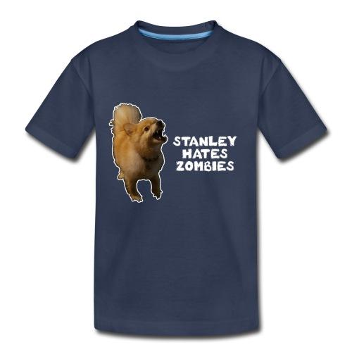 Stanley Hates Zombies - Kids' Premium T-Shirt
