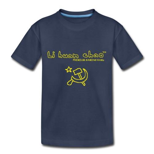 Full Li Huan Chao Logo Black+Yellow - Kids' Premium T-Shirt